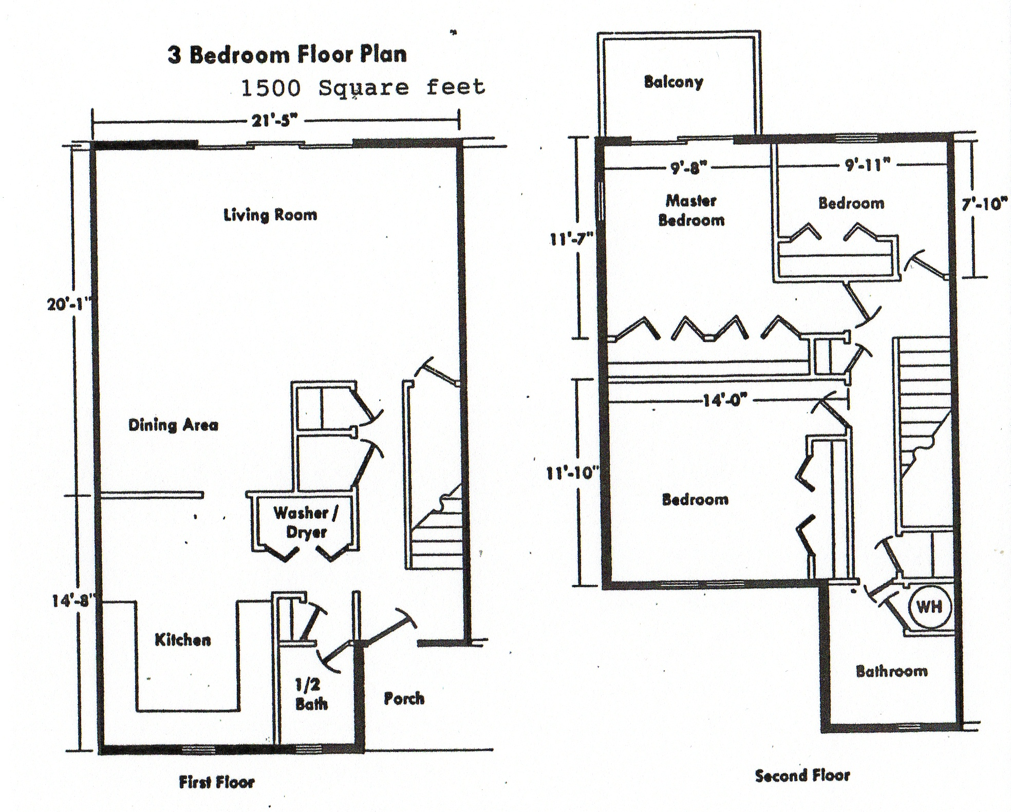 Home ideas for Three bedroom two bath floor plans
